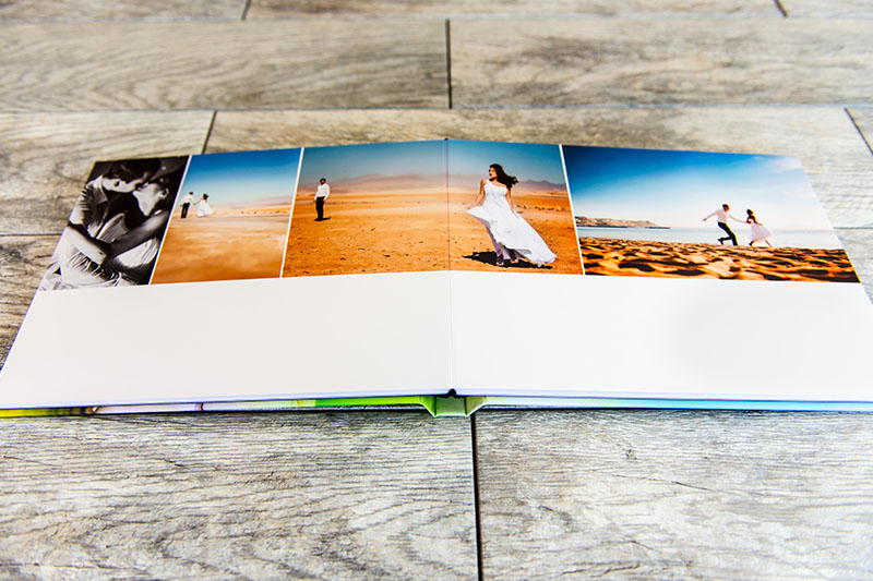 Panoramic Lay-Flat Pages